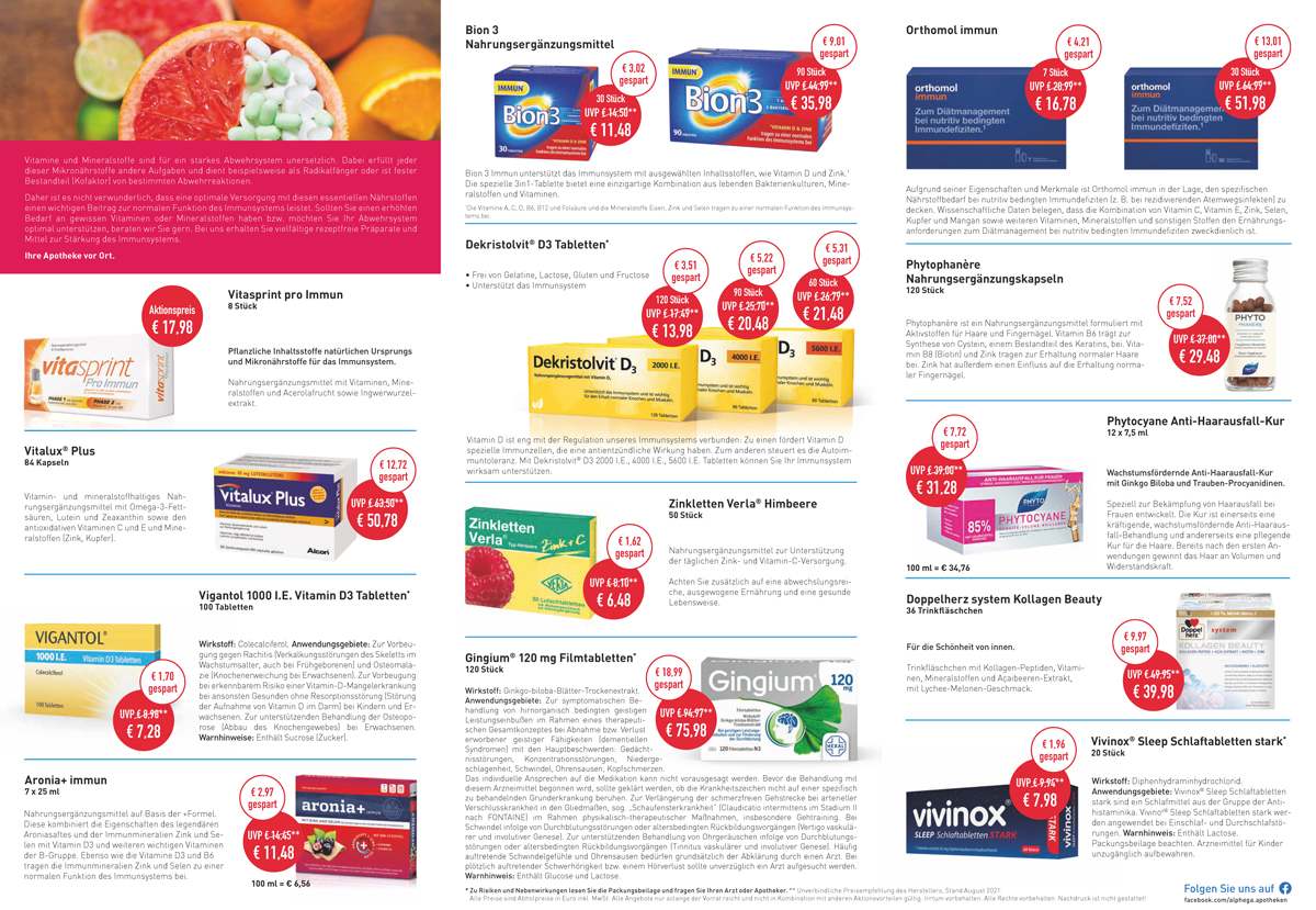 Aktuelle Angebote der Humboldt Apotheke